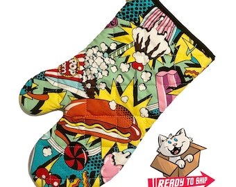 Junk Food Comics Oven Mitt