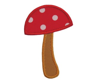"""Mushroom Machine Embroidery Designs Applique Pattern in 4 sizes 3"""", 4"""", 5"""" and 6"""""""