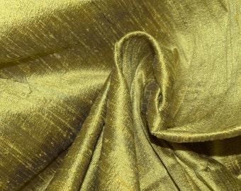 Silk Dupioni in  Mustard with Black shimmers, Half yard DEX 231