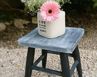 Wooden kids stool