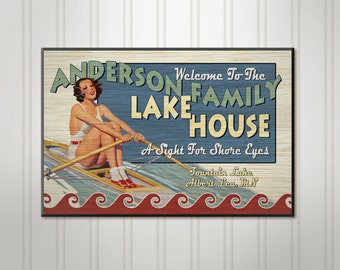Personalized Lake House Sign, Family Name Sign, Personalized Sign, Personalized Bar Sign, Pub Sign