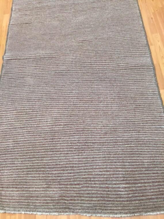 "4' x 6'7"" Pakistani Gabbeh Oriental Rug - Hand Made - 100% Wool - Modern"