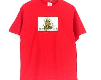 Vintage Keith Haring T-shirt Medium Size Pop Art