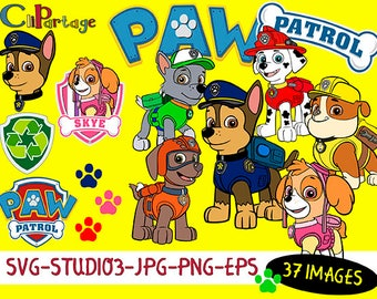 PAW PATROL Svg, Eps Images, SVG silhouettes, Decal Svg files for Silhouette, Cricut, Instant digital download, Patrulla Canina