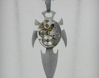 Men Watch movement  Steampunk   Pendant ,  Steampunk Jewelry , Steampunk Jewelry , Clockwork  Pendant , Watch movement Pendant