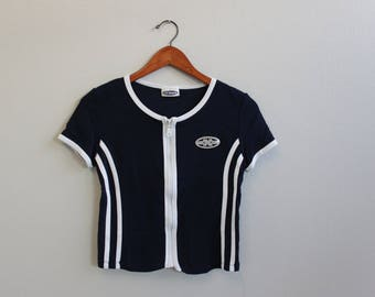Vintage 90s Zipper Tshirt By JK Maple