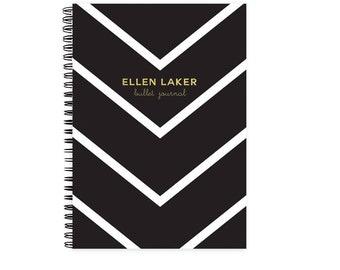 Bullet Journal Notebook - Bujo Personalized Bullet Journal Travel Journal Wedding Planner 21st Birthday Gift Dot Grid Notebook