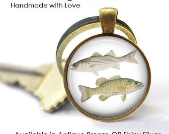 TWO FISHES Key Ring • Salt Water Fish • Fresh Water Fish • Fisherman • Fishing • Angling • Gift Under 20 • Made in Australia (K684)