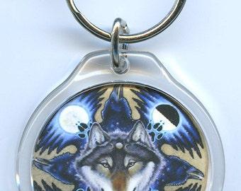 Wolf Ravens Key Chain