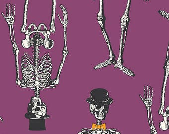 Chillingsworth by Echo Park Paper for Andover - Skeletons Purple