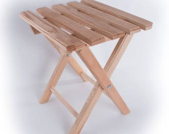 Bamboo Wooden Folding Stool/ Picnic Fishing Camping Wooden Stool 12.08 x 10.74 x 13.38 in