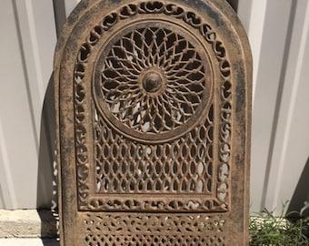 Antique Cast Iron Arched Fireplace Surround