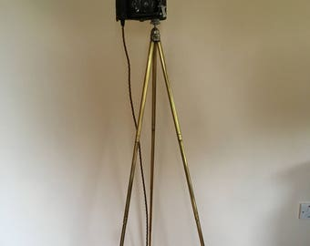A Bespoke Camera Tripod Floor Lamp
