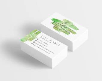Watercolor Business Card, Printed Business Cards, Custom Business Cards, Business Card, Thick Business Cards