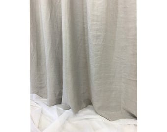 Stone Grey Shower Curtain – Mildew-Free, 72x72, 72x85, 72x94, or Custom Size, Mildew-Free