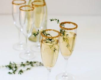 Gold cocktail rimming sugar - bronze gold sugar for martinis, champagne glasses, gold signature drink - gold rim sugar, gold rimmed glasses