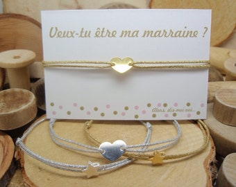 """Bracelet """"Veux-tu être ma marraine ?"""""""