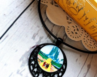 Emerald City Necklace, Wizard of OZ Pendant Necklace, wizard of Oz Necklace, Off to See The Wizard, Dorothy Necklace, Yellow Brick Road