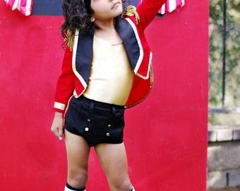Boutique Custom Handmade Lion Tamer Costume, Big Top Circus, Pageants, Photography, Birthdays Sizes 6T-10