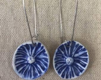 PORCELAIN Earrings - Cobalt sealife