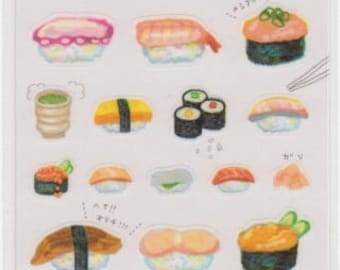Sushi Stickers - Masking Tape Stickers - Reference A4212-13A4245-46
