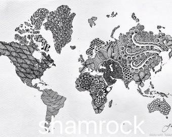 World map mandala world map in mandala style gumiabroncs Images