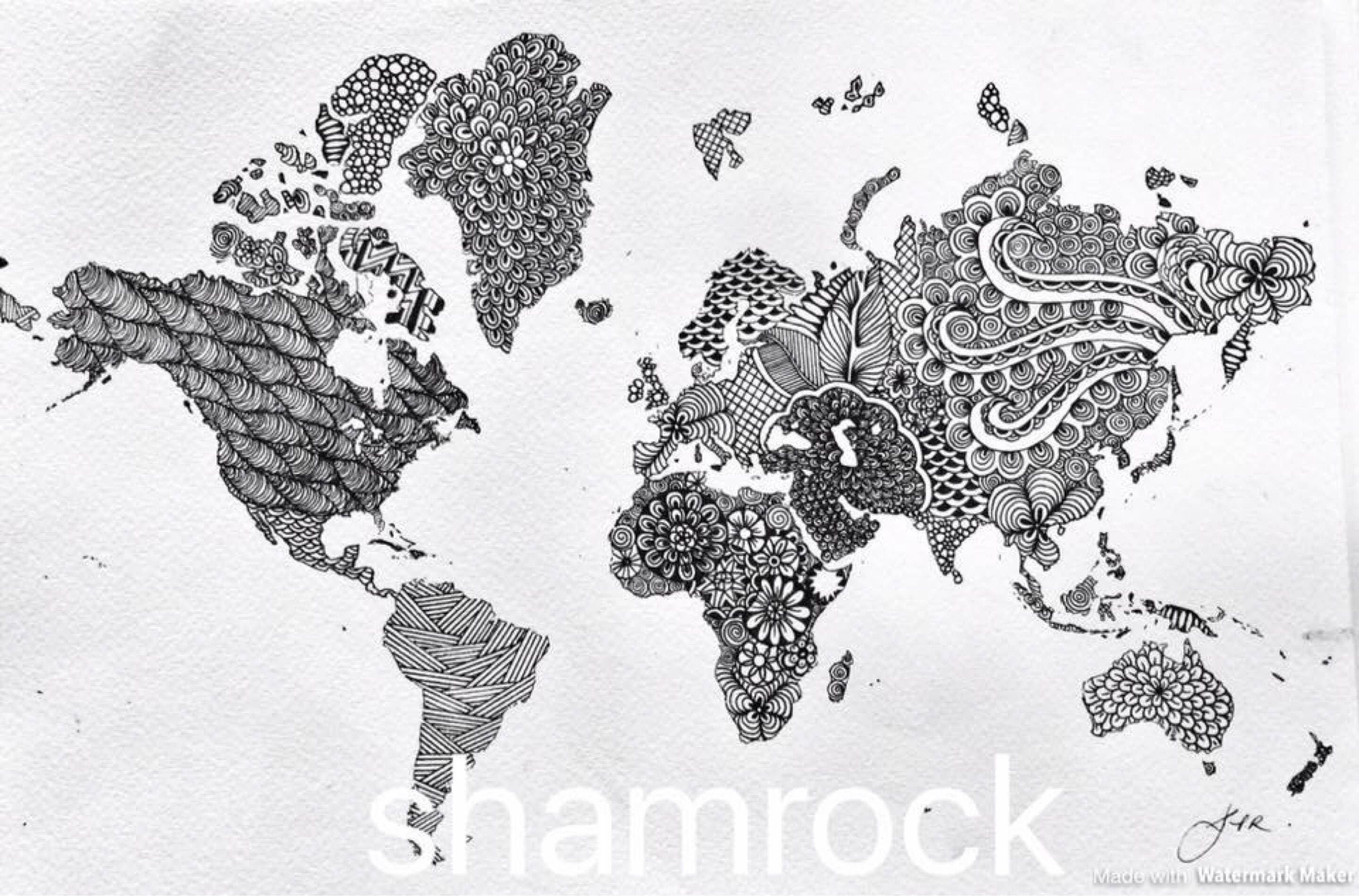 World map in mandala style ampliar gumiabroncs Images