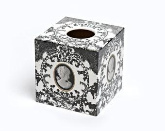 Cameo Tissue Box Cover wooden handmade