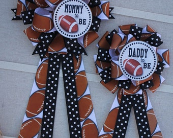 Mommy to Be Corsage, Mommy to Be Sports Corsage, Mommy to Be Football Pin, Sports Baby Shower Pin, Football Baby Shower, Mom to Be Pin,