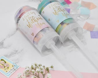 Personalised Secret Question/Bridesmaid Proposal/Will you be my bridesmaid/I Can't say I Do Without You/Confetti Popper/Confetti Push-Pop