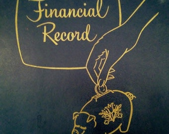Vintage Family Financial Record.  Household Finances. Family Journal.