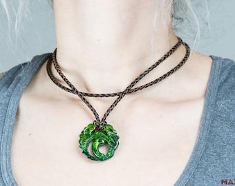 Lara Croft jade pendant necklace