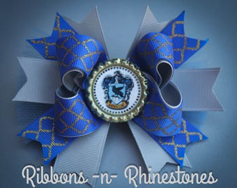 Harry Potter Ravenclaw Bow, Ravenclaw Harry Potter Bow, Harry Potter Birthday Bow, Ravenclaw Bow, Harry Potter Party Bow, Ravenclaw