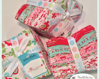 Riley Blake - Butterflies & Berries - Fat Quarter Bundle by RBD Designs - 100% Cotton - Floral - Quilting Fabric - Cotton Fabric