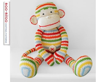 BoBo the monkey, toy knitting pattern