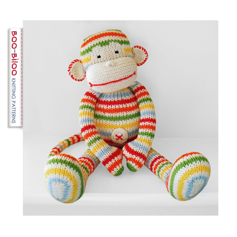 BoBo the monkey, toy knitting pattern from BooBiloo on Etsy Studio