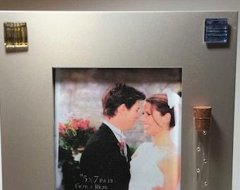Jewish Wedding Picture Frame - Jewish Engagement Gift - Holds Shards