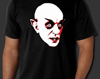 Nosferatu Vampire Dracula Horror Classic Count Orlok Halloween Black T-shirt Tee