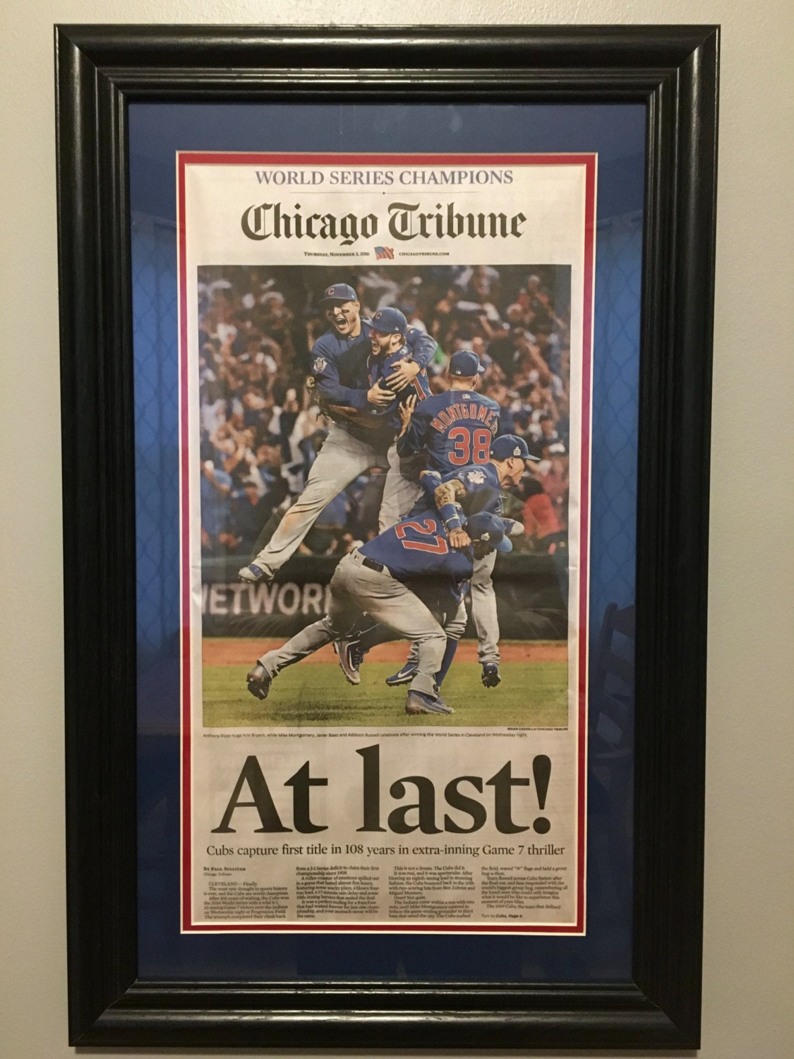 Very best At Last Chicago Cubs 2016 World Series Baseball Champions WX48