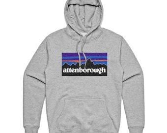 David Attenborough hoodie hooded sweatshirt in grey