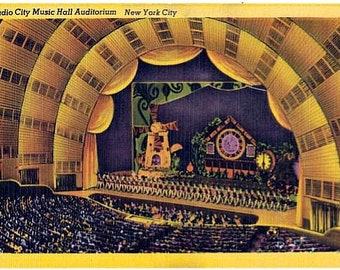 Vintage New York City Postcard - Radio City Music Hall