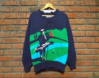 Vintage 80s Golf Sweater Men's L