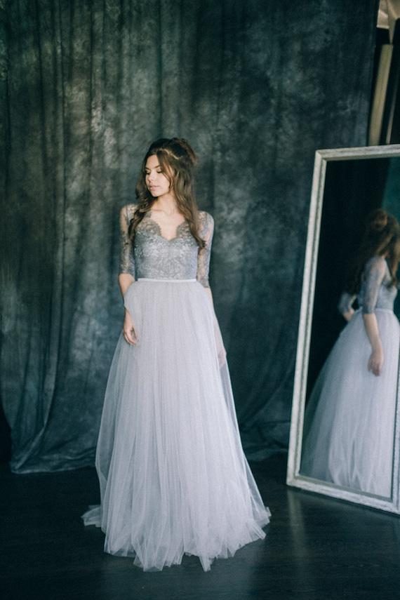 Beautiful Light Grey Wedding Dress Ideas - Styles & Ideas 2018 ...
