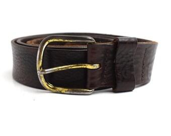 Albany Vintage Mens Leather Belt Brown Size 42