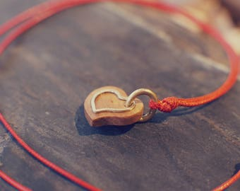 Heart on a string. A pendant for your loved one.