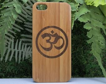 OM Symbol iPhone 5 5S or iPhone SE Case. Eco-Friendly Bamboo Wood Cover. Yoga Yogi Zen Meditate Zen Sanskrit Pranava Mantra iMakeTheCase