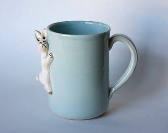 Baby green bunny mug