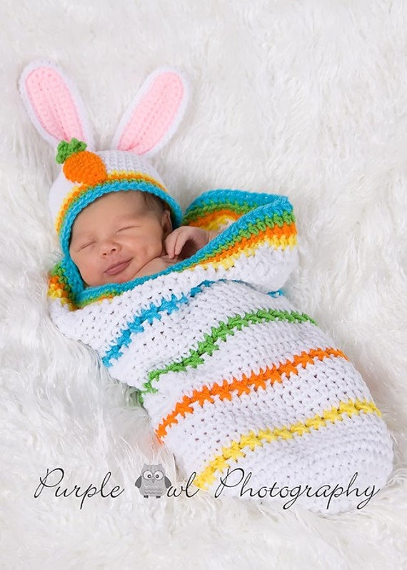 Easter Bunny Cocoon - Photography Prop - Boy or Girl