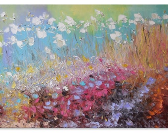 Large artwork Floral oil painting Impasto painting Vivid painting Workart Southern artist Impressionistic Oilpainting Originalpainting