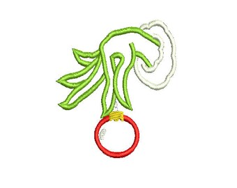 001 Christmas Machine embroidery applique design Hand
